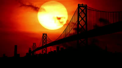 stock-footage-san-francisco-bay-bridge-during-sunset